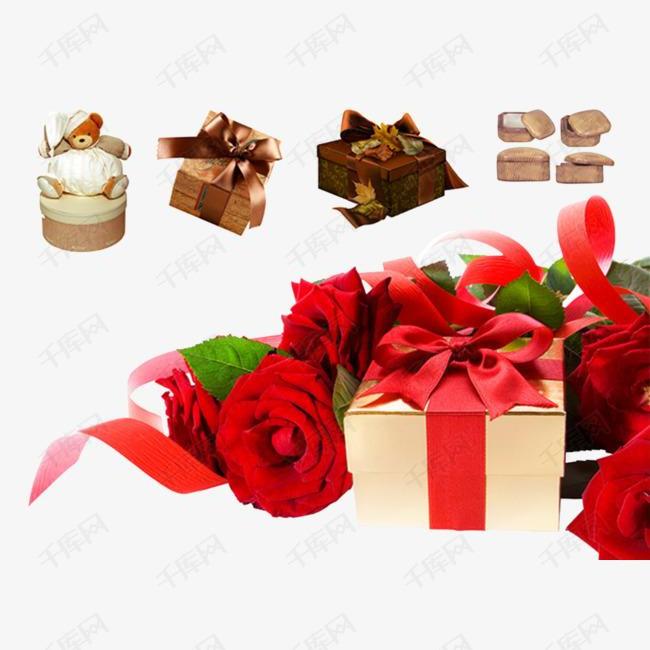 玫瑰和礼物盒