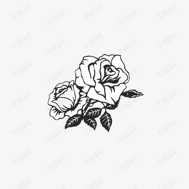 手绘刺青玫瑰的素材免抠手绘刺青玫瑰潮流玫瑰刺玫瑰叶子玫瑰花简笔画手绘玫瑰花玫瑰花开手绘玫瑰花简笔画手绘刺青玫瑰