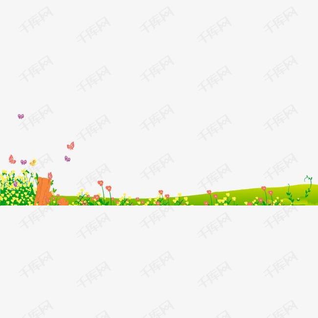 绿草地花朵