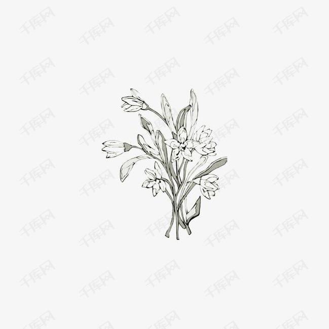 一束花朵简笔画素材图片免费下载 高清漂浮素材png 千库网 图片编号2287884