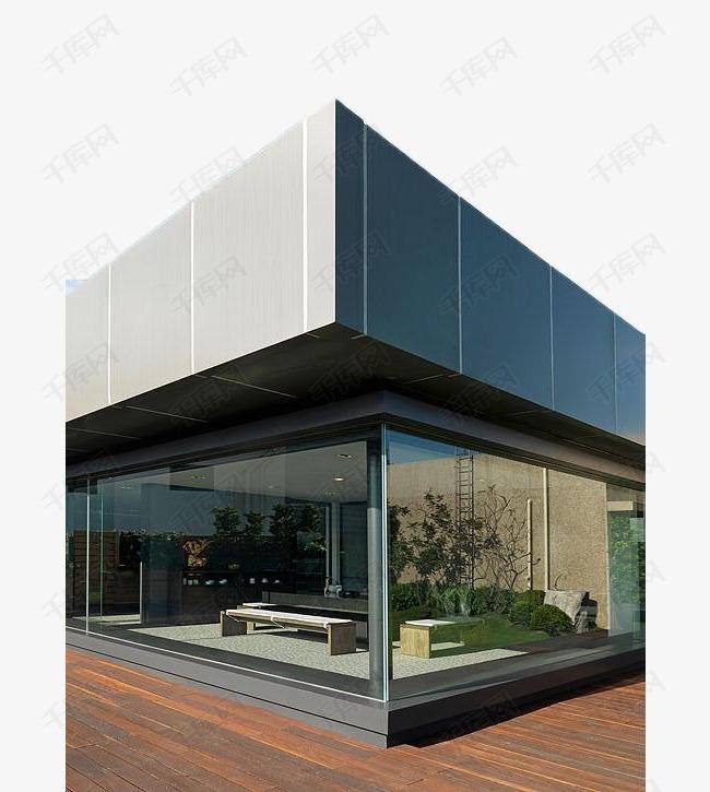 现代落地玻璃墙建筑