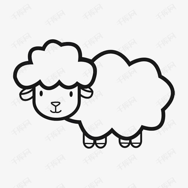 手绘小绵羊素材图片免费下载 高清png 千库网 图片编号8218405
