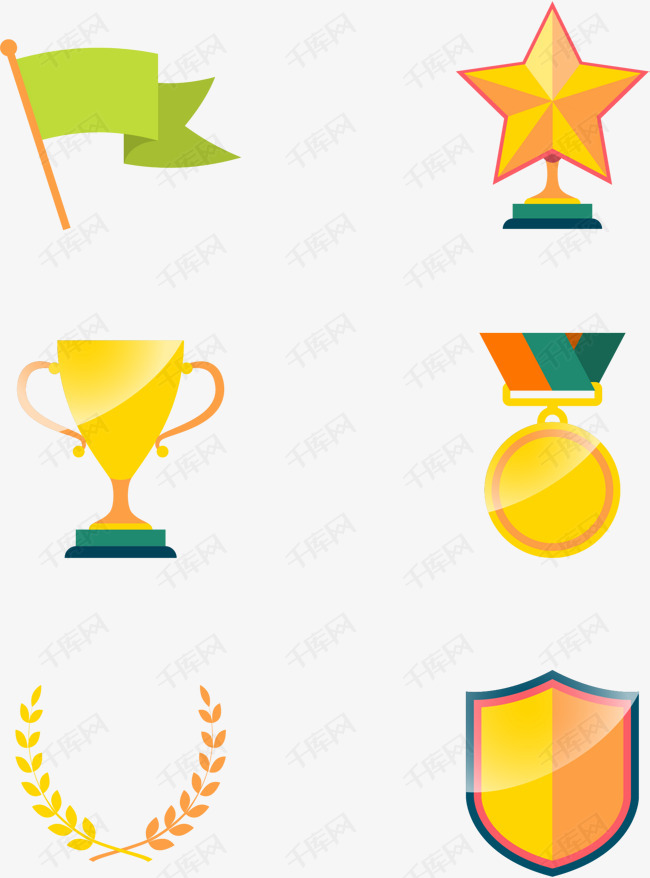 矢量手绘奖杯素材图片免费下载 高清psd 千库网 图片编号8309481