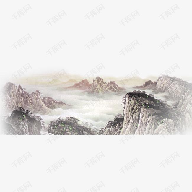 古风墨迹素材水墨图片素材彩色水墨山水的素材免抠古风墨迹素材水墨图片素材彩色水墨山水