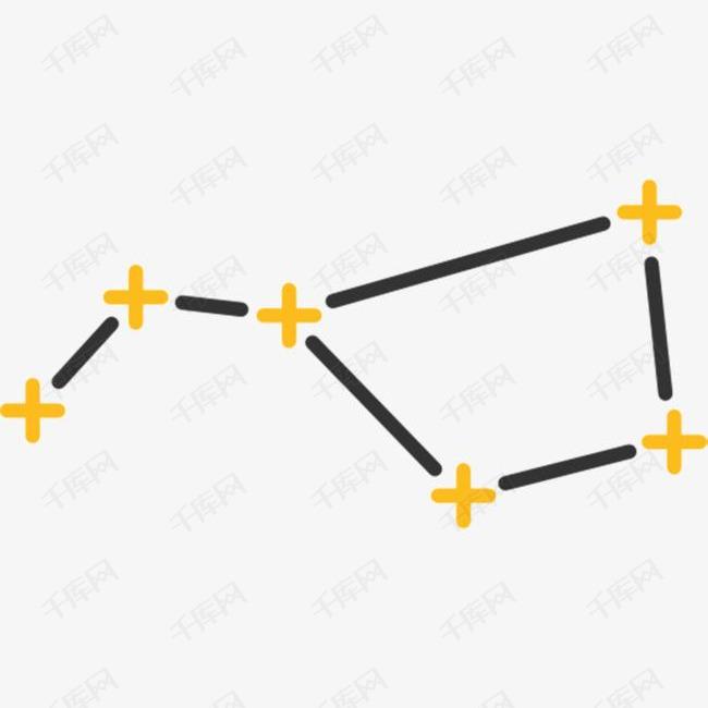 手绘的北斗七星素材图片免费下载 高清图片png 千库网 图片编号