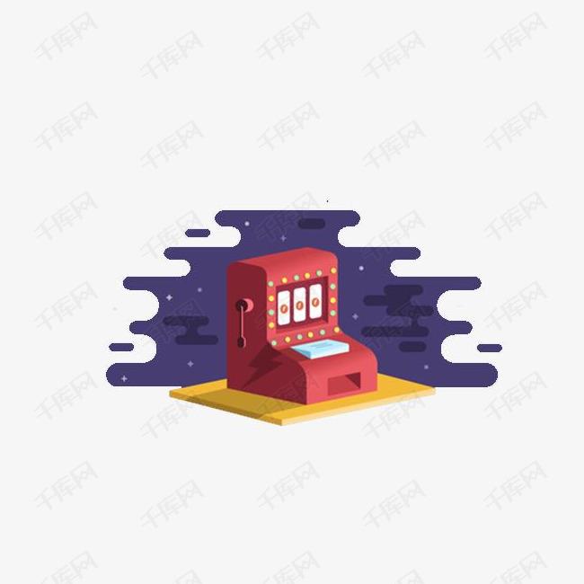 红色扁平老虎机