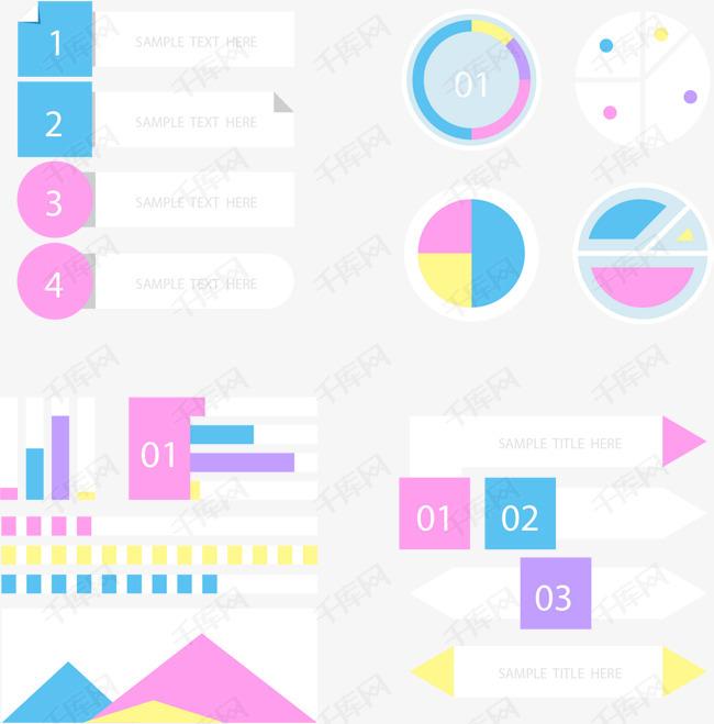 折角小清新信息图表