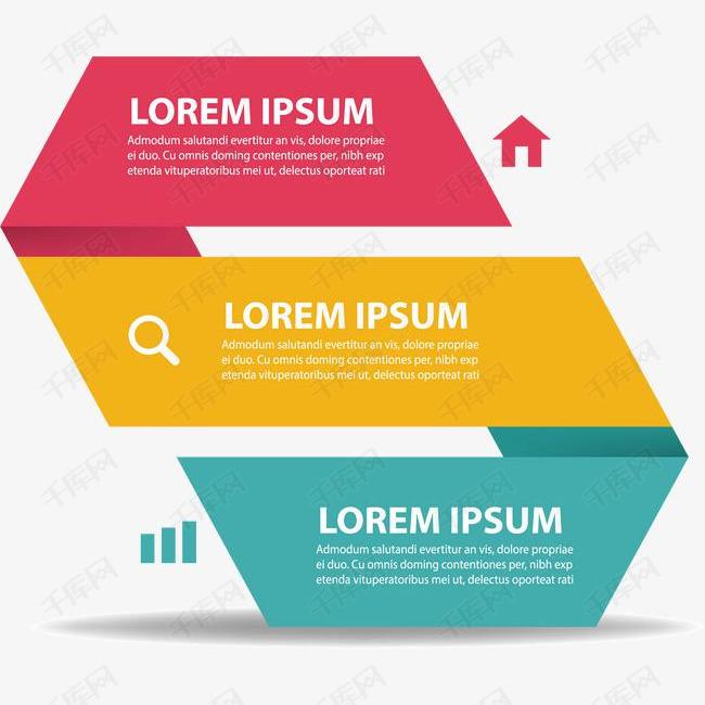 三层折纸效果信息图表