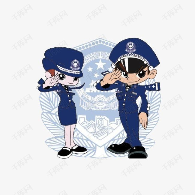 卡通手绘敬礼人物素材图片免费下载 高清装饰图案png 千库网 图片编号2672919