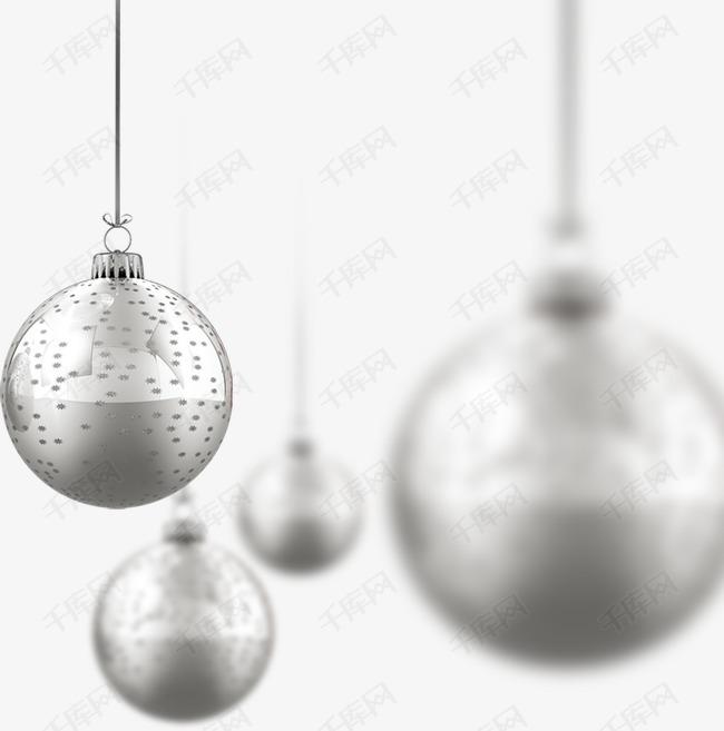 银色圣诞装饰球