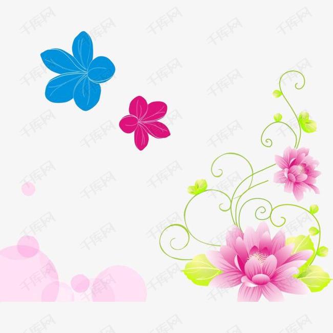 彩色装饰图案花