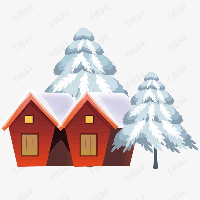 雪天的房子素材图片免费下载 高清psd 千库网 图片编号7021592