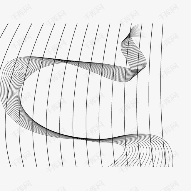 黑色线条曲线