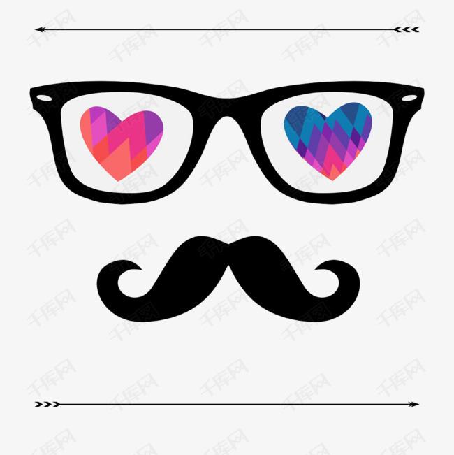 创意胡子眼镜