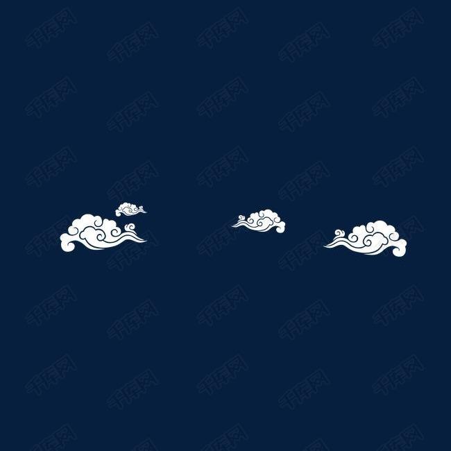 漂浮白云装饰
