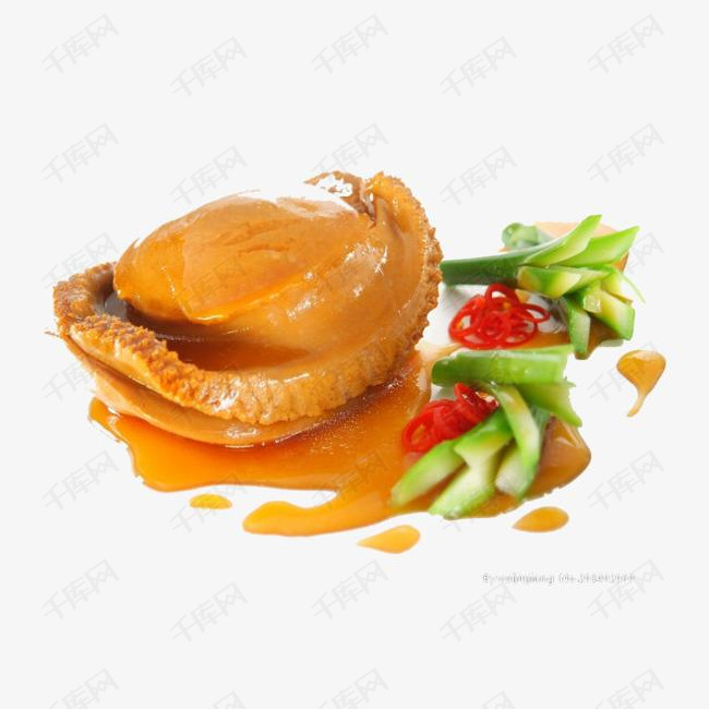 纯肉鲍鱼素材