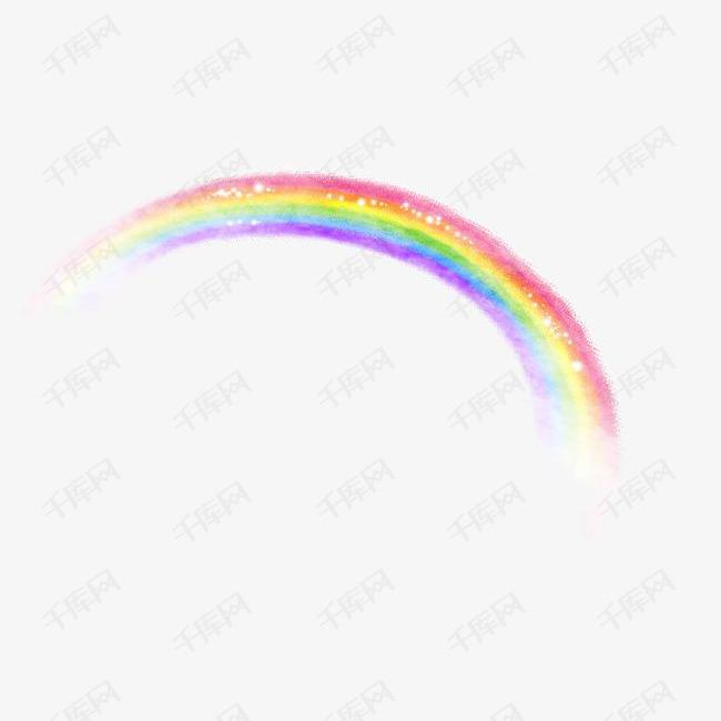 卡通手绘唯美七彩彩虹的素材免抠彩虹卡通彩虹手绘彩虹彩虹桥七彩-