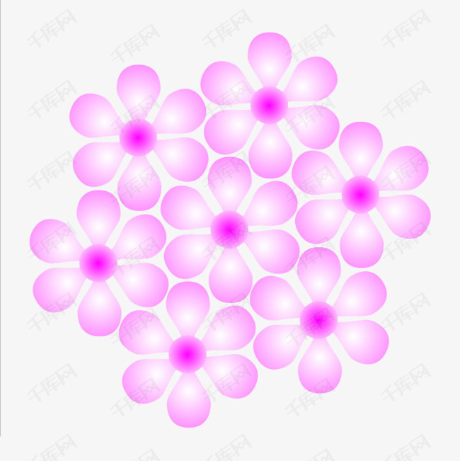 粉色的花朵装饰