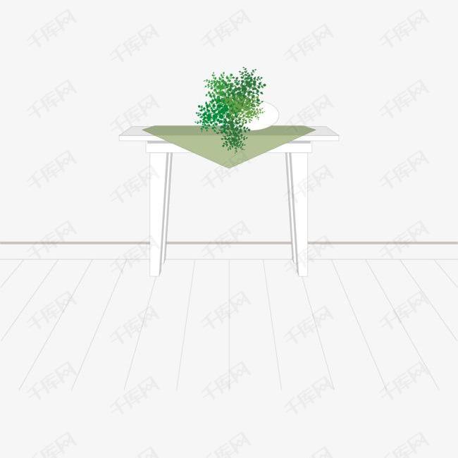 矢量手绘桌子