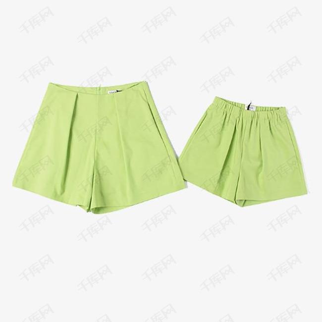 韩版短裤亲子装