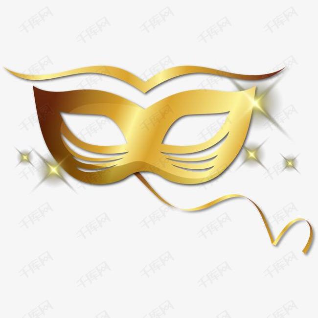 矢量金色精致面具