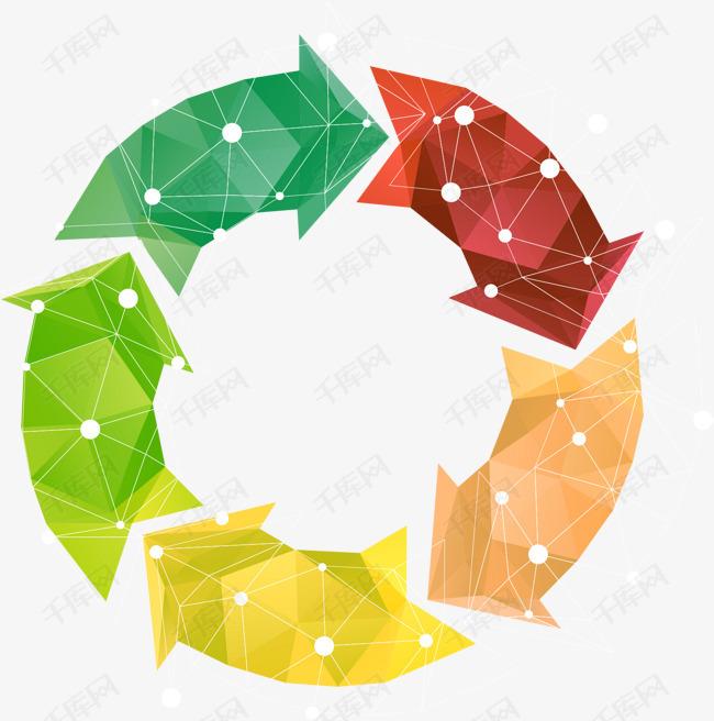 矢量手绘循环PPT箭头素材图片免费下载 高清psd 千库网 图片编号8221598