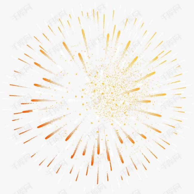 春节黄色绽放的烟花