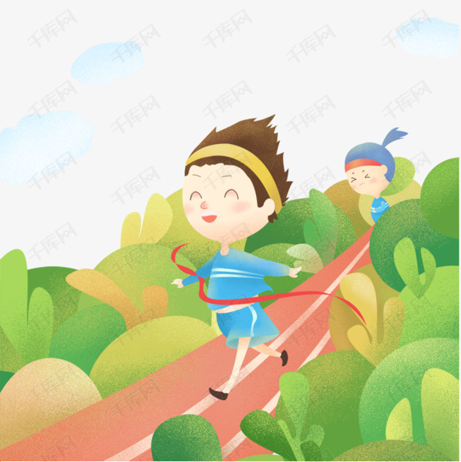 免抠卡通手绘春季运动会奔跑的女孩素材图片免费下载 高清psd 千库网 图片编号10171190