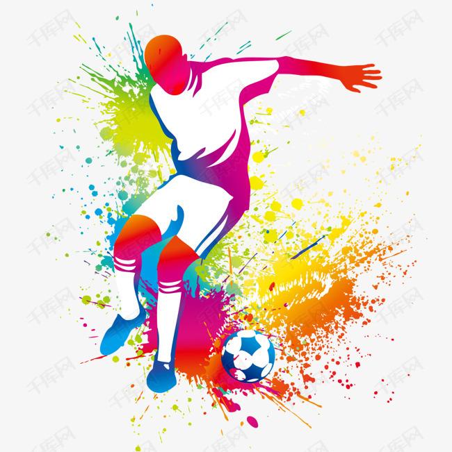 踢足球比赛人物彩绘