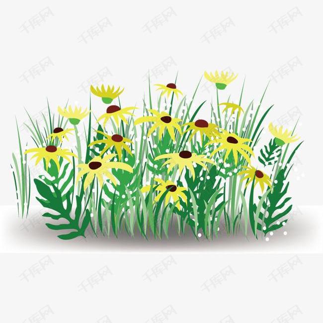 花,花朵,绿草地,淘宝,矢量素材图片免费下载 高清psd 千库网 图片编号1929704