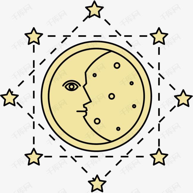 月亮符号素材图片免费下载 高清psd 千库网 图片编号8648765