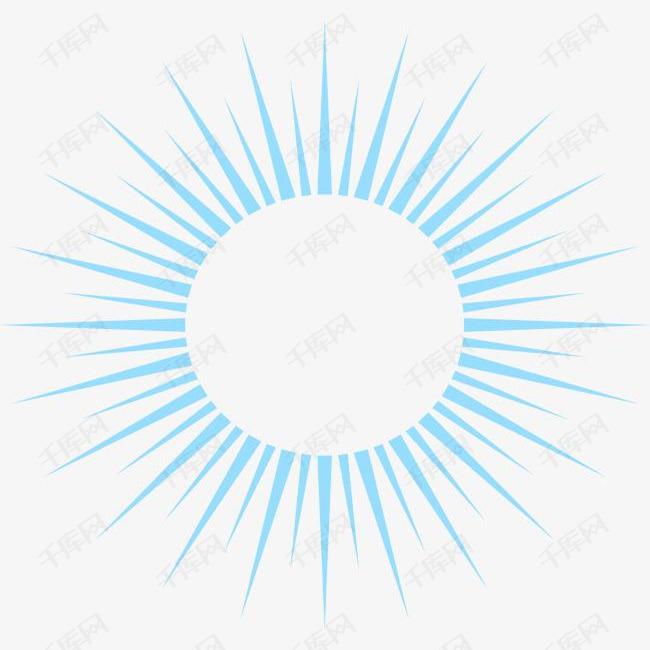 手绘蓝色太阳素材图片免费下载 高清png 千库网 图片编号8781334