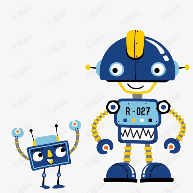 卡通机器人简笔画彩色 机器人卡通 简笔画人物 机器人儿童画 大呱网
