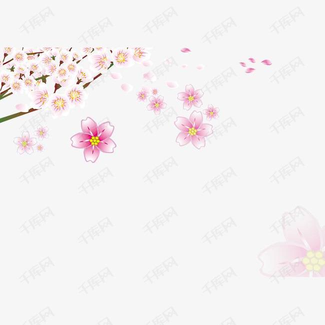 免扣手绘桃花的素材免抠免扣手绘桃花花瓣粉色桃花飘落的花瓣桃花树桃花飘