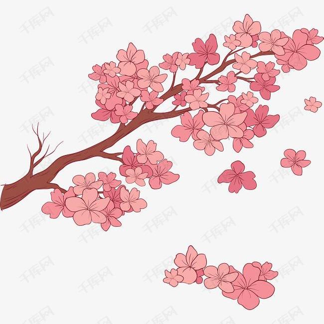 卡通浪漫樱花手绘装饰素材图片免费下载 高清psd 千库网 图片编号10079542
