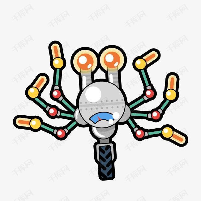 卡通科技机器人装饰手绘装饰素材图片免费下载 高清png 千库网 图片