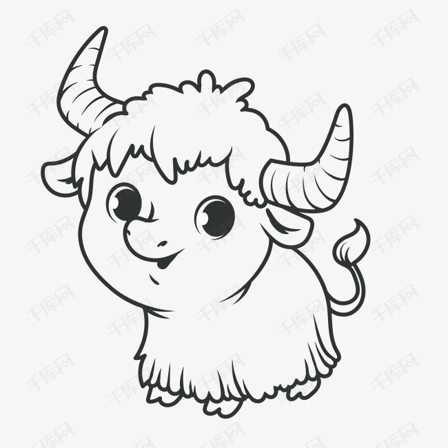 手绘简笔画 可爱小羊素材图片免费下载 高清png 千库网 图片编号9402052