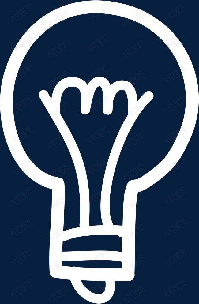 手绘白色灯泡素材图片免费下载 高清png 千库网 图片编号9034744