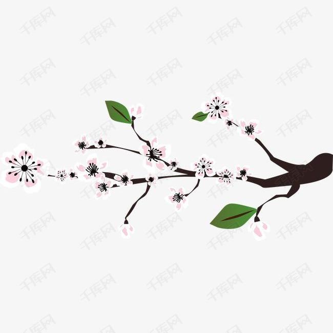 手绘樱花矢量图素材图片免费下载 高清装饰图案psd 千库网 图片编号4308165