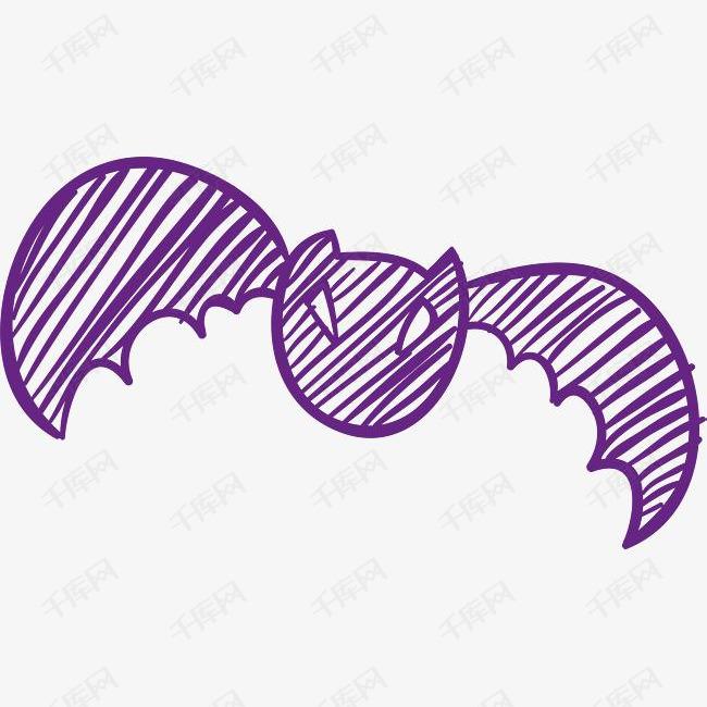 手绘涂鸦蝙蝠素材图片免费下载 高清psd 千库网 图片编号9157096