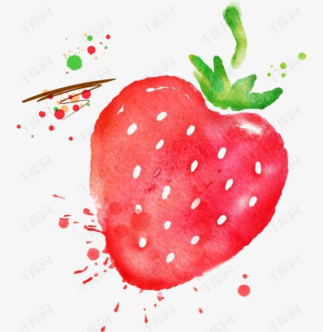 手绘草莓素材图片免费下载 高清png 千库网 图片编号8702668