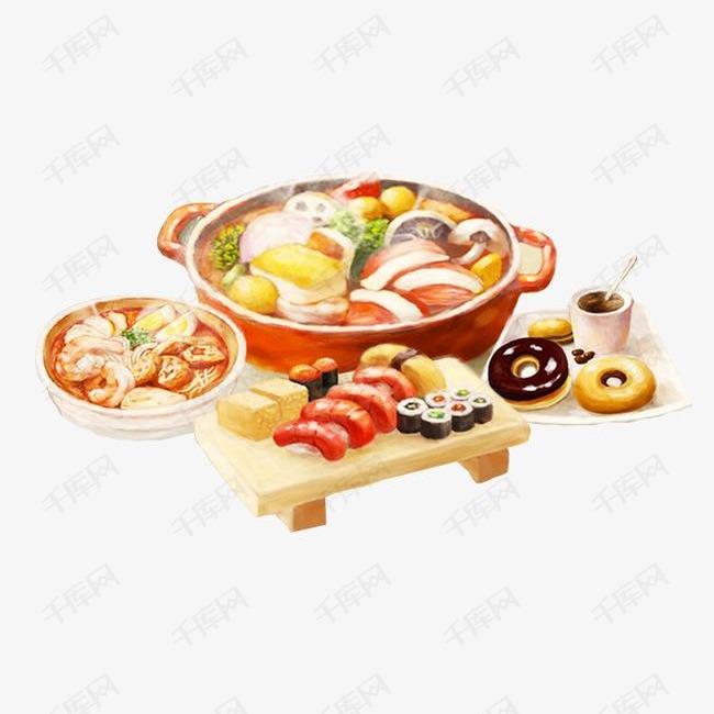手绘油画美食素材图片免费下载 高清png 千库网 图片编号4482206