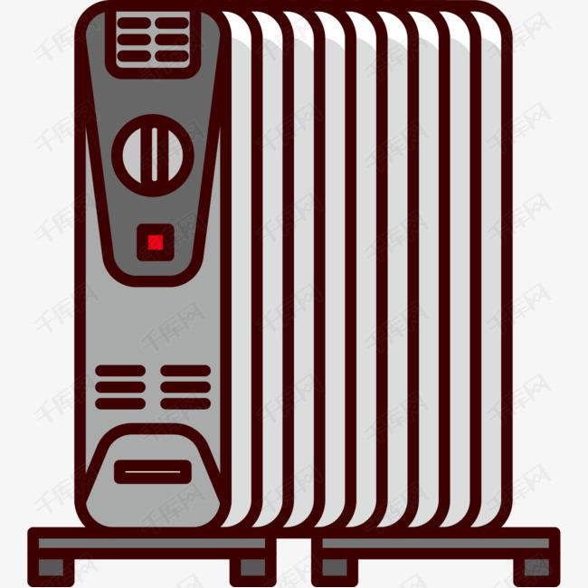 手绘卡通电暖器的素材免抠取暖器暖脚器电暖器烤火炉烤火箱暖风机小太阳暖气片小家电冬日取暖图片