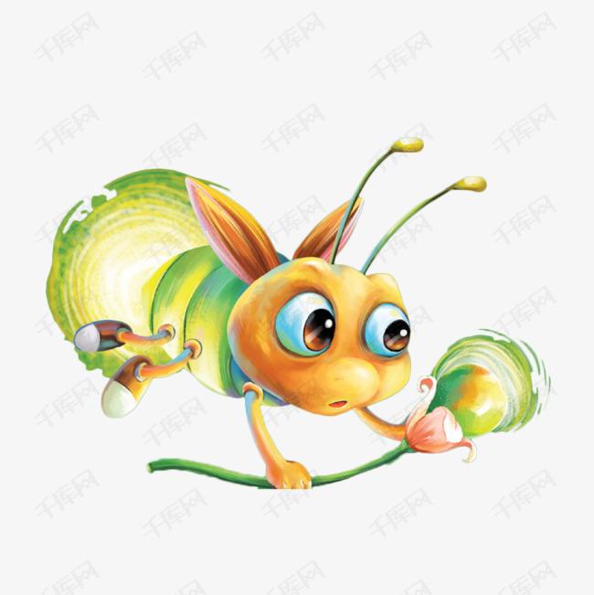 手绘卡通可爱的萤火虫素材图片免费下载 高清png 千库网 图片编号