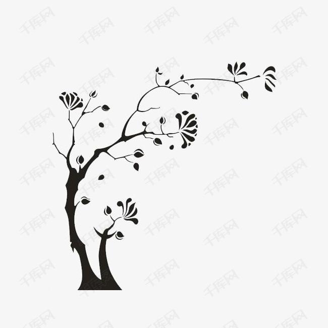 手绘古树简笔画素材图片免费下载 高清png 千库网 图片编号9382972