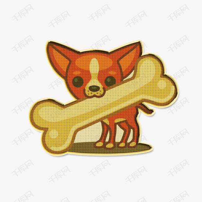 吃骨头的小狗素材图片免费下载 高清png 千库网 图片编号9320677