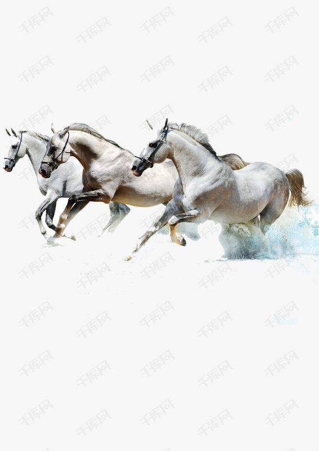 马水墨画手绘奔跑素材图片免费下载 高清装饰图案psd 千库网 图片编号1655314图片
