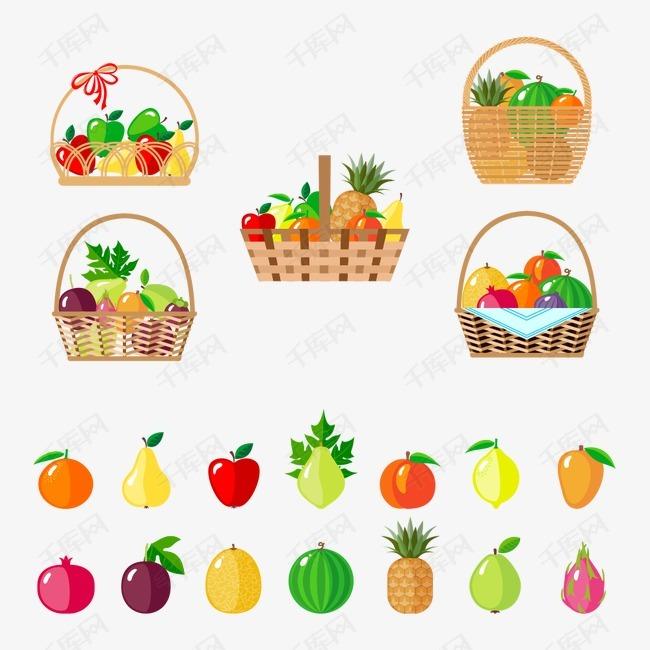 水果篮素材图片免费下载 高清装饰图案psd 千库网 图片编号3723573