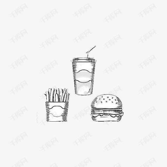 蟹黄堡套餐简笔画素材图片免费下载 高清png 千库网 图片编号8483025
