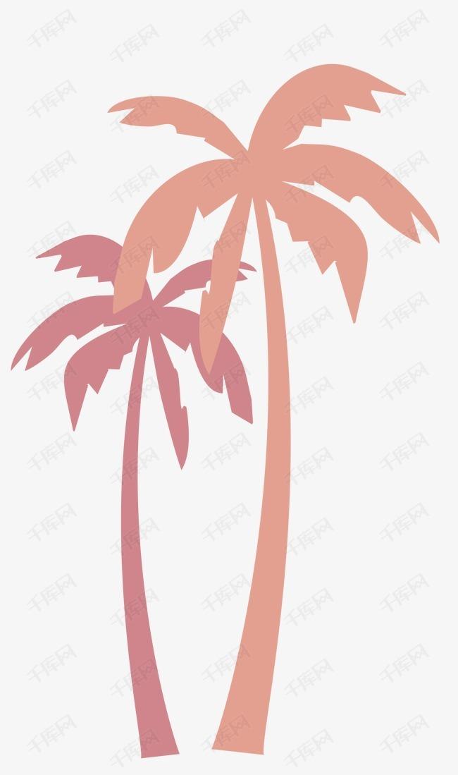 矢量椰子树简笔画素材图片免费下载 高清装饰图案psd 千库网 图片编号3411970